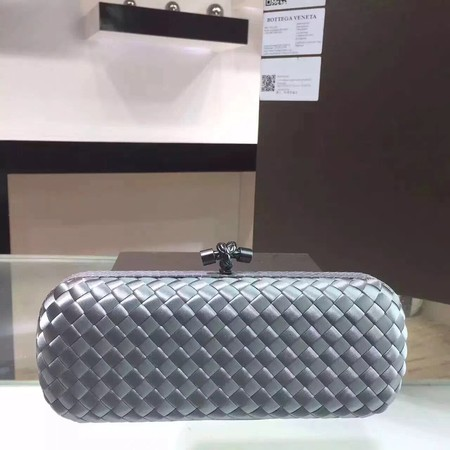 Bottega Veneta Japanese Silk ribbon Clutch 0313 grey