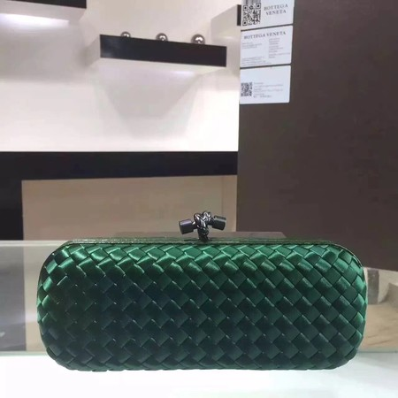 Bottega Veneta Japanese Silk ribbon Clutch 0313 green