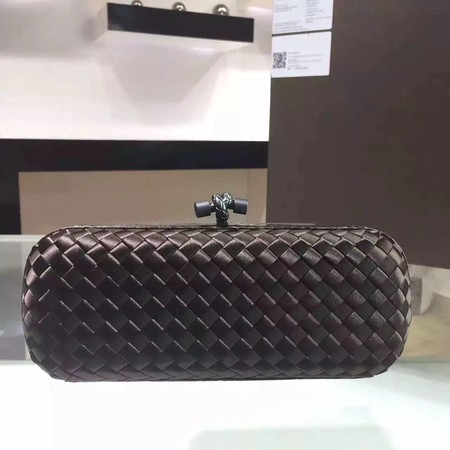 Bottega Veneta Japanese Silk ribbon Clutch 0313 Chocolates