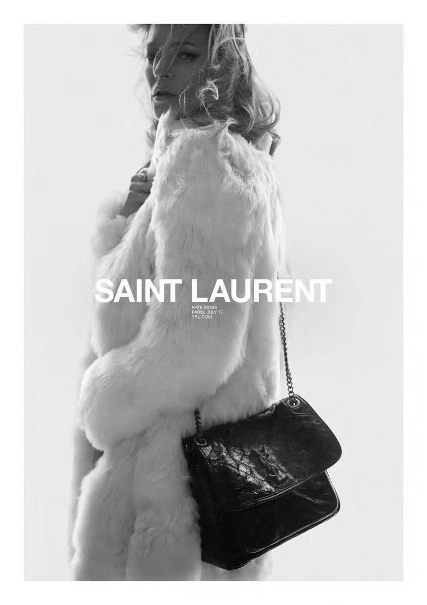 Yves Saint Laurent Medium Niki Chain Bag 498894 Black