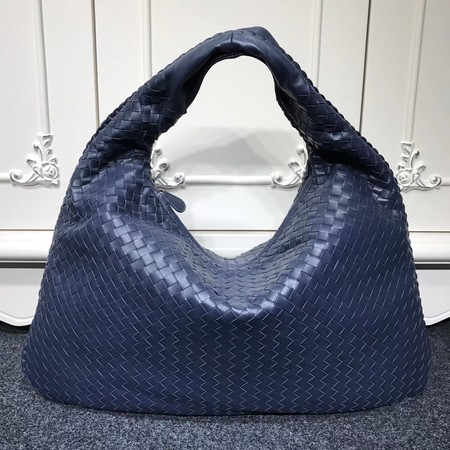 Bottega Veneta Calf leather Hobo Bag 5092 dark blue