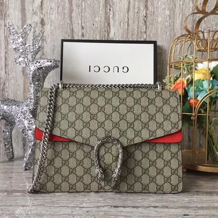 21d1c931510 Gucci GG NOW Dionysus canvas Shoulder Bag 403348 red