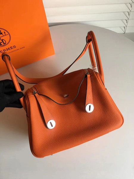 Hermes Lindy togo Original Leather Shoulder Bag 5086 orange
