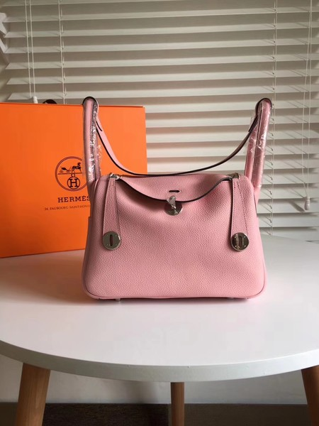 Hermes Lindy togo Original Leather Shoulder Bag 5086 Pink