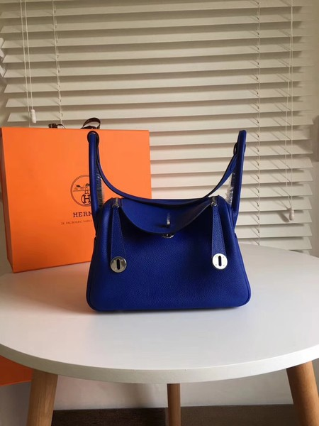 Hermes Lindy togo Original Leather Shoulder Bag 5086 blue
