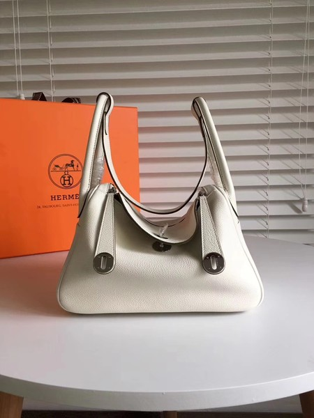 Hermes Lindy togo Original Leather Shoulder Bag 5086 white