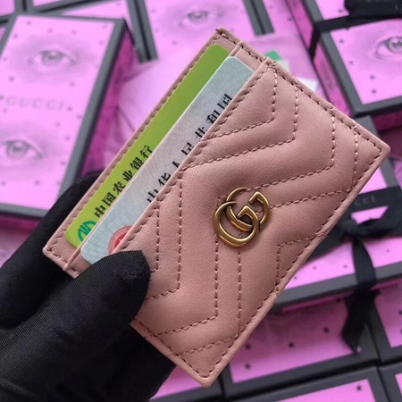 Gucci GG marmont Card package 443127 pink