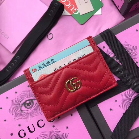 Gucci GG marmont Card package 443127 red