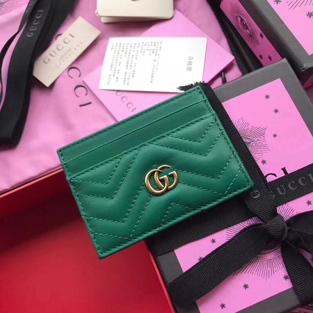Gucci GG marmont Card package 443127 green