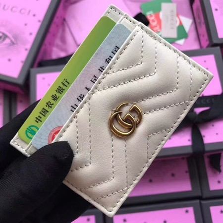 Gucci GG marmont Card package 443127 cream