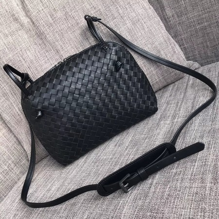 Bottega Veneta Sheepskin Shoulder Bag BV1142 black