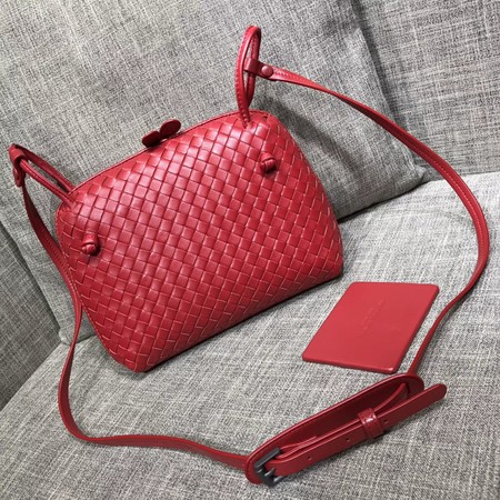 Bottega Veneta Sheepskin Shoulder Bag BV1142 red