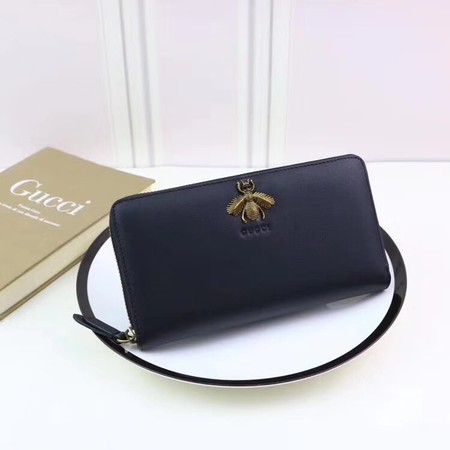 Gucci Calfskin Leagther Wallet 428747 black