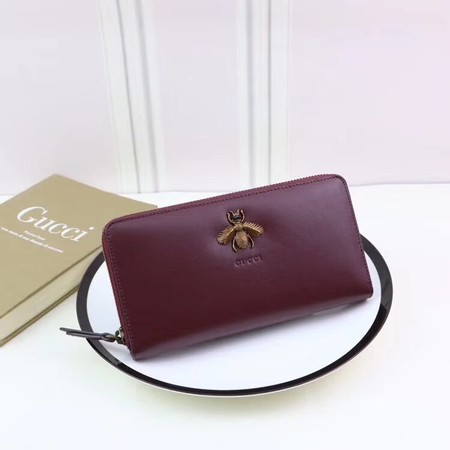 Gucci Calfskin Leagther Wallet 428747 wine