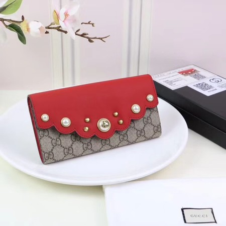 Gucci GG canvas wallet 431474 red