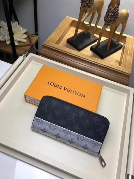 Louis Vuitton Split Monogram Canvas Zippy Wallet 60017 silver