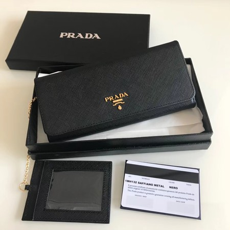Prada original Cattle leather Wallet 1MH132 black