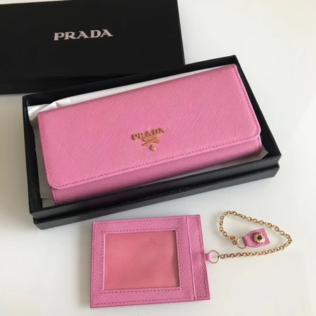 Prada original Cattle leather Wallet 1MH132 Cherry blossoms