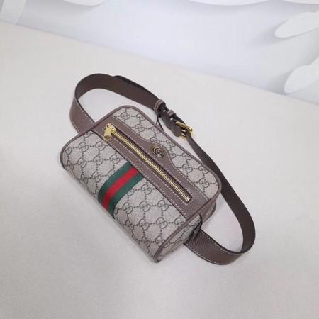 0bd6626b4950 Gucci Ophidia Gg Supreme Small Belt Bag 517076 Dark Coffee | Mount ...