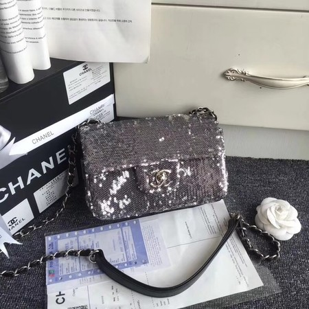 Chanel Flap Beads Shoulder Bag CF1116 silver