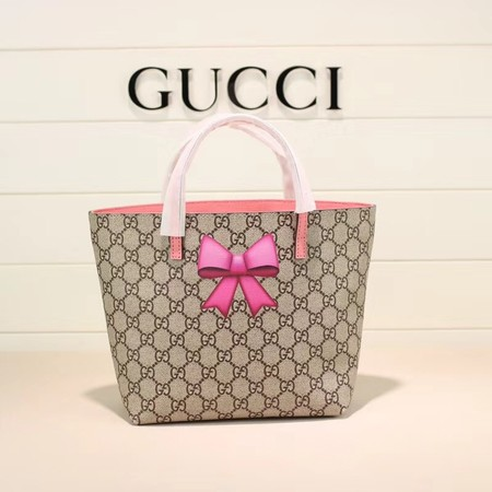 Gucci GG new fabric tote bag 410812 pink