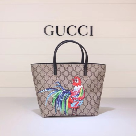 Gucci GG new fabric tote bag Cock 410812 brown