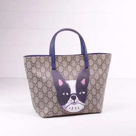 Gucci GG new fabric tote bag cat 410812 blue