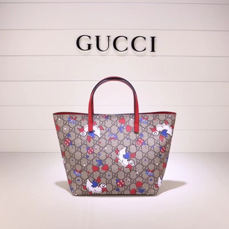 Gucci GG new fabric tote bag Swan 410812 red