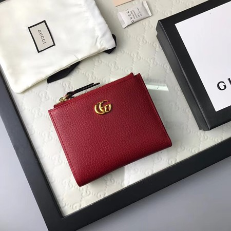 Gucci Calf leather Wallet 474747 red