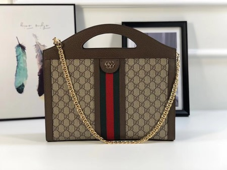 Gucci GG top quality canvas tote bag 512957 brown