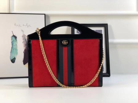 Gucci original suede leather tote bag 512957 red