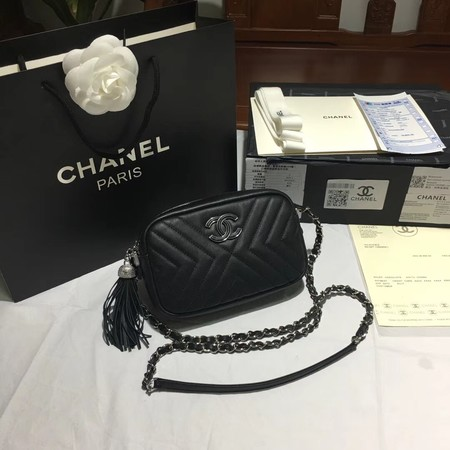 Chanel Flap Original Sheepskin Leather mini Shoulder Bag 5700 black