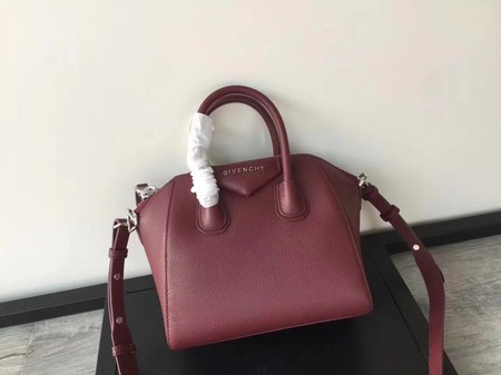 Givenchy Antigona Bag Calfskin Leather INFINITY 9982 wine