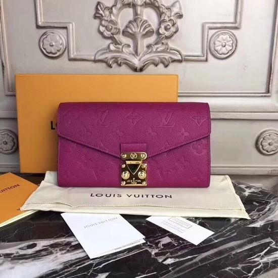 Louis Vuitton Original Monogram Empreinte Metis Wallet 62459 purple