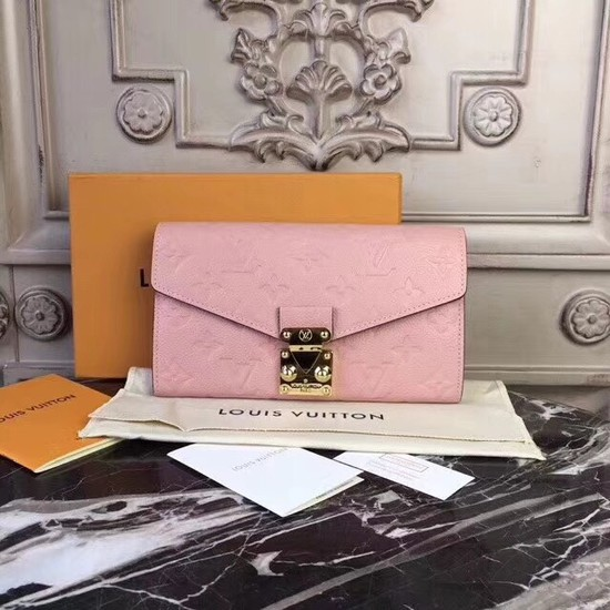 Louis Vuitton Original Monogram Empreinte Metis Wallet 62459 pink