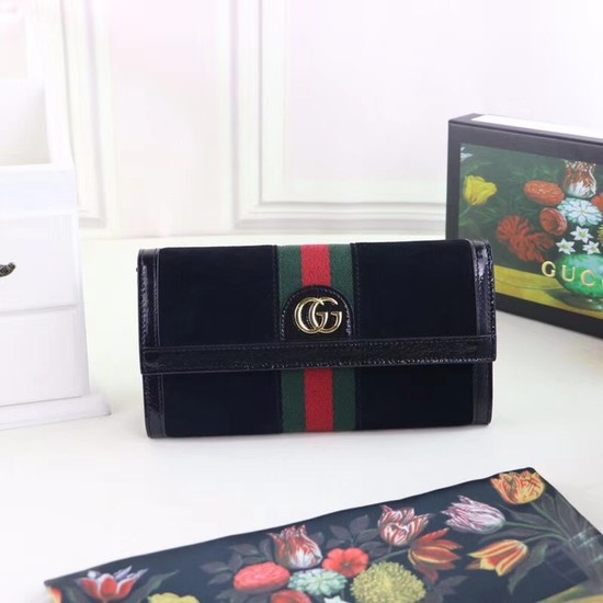 Gucci Ophidia continental wallet 523153 black