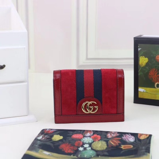 Gucci Ophidia card case 523155 red