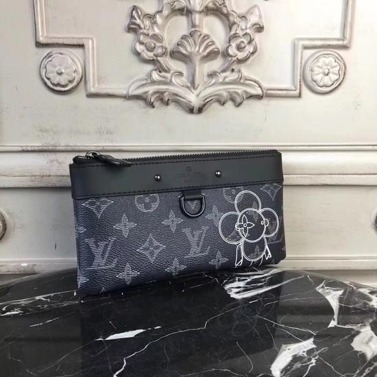 Louis vuitton Monogram Canvas ZIPPY Wallet M62897 black