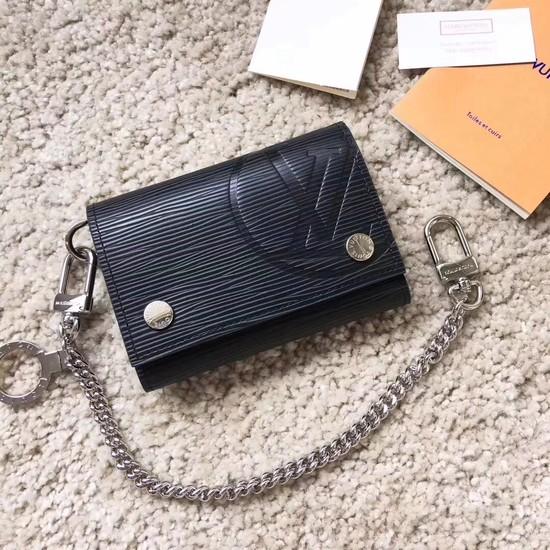 Louis Vuitton RIVETS CHAIN Wallet 63518 Black