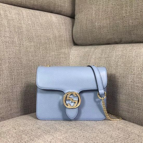 Gucci GG Cowhide top quality Shoulder Bag 510304 Sky blue
