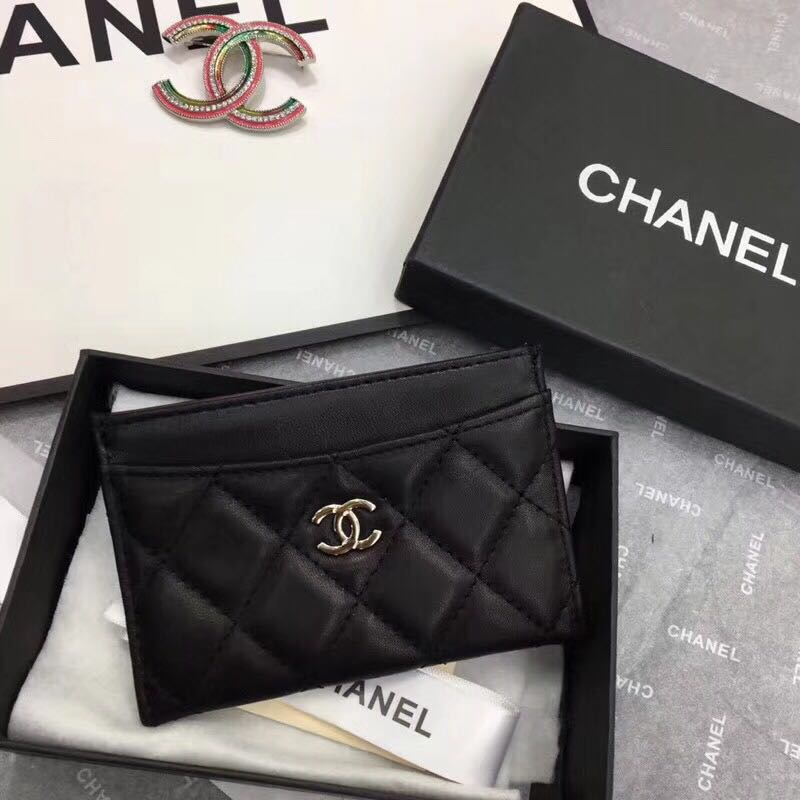 Chanel  Original sheepskin Card package 5569 black