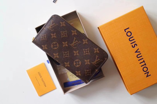 Louis Vuitton Monogram Canvas Zippy Wallet 41895 pink