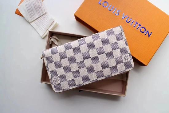 Louis Vuitton Damier Azur Zippy Wallet 63503 pink