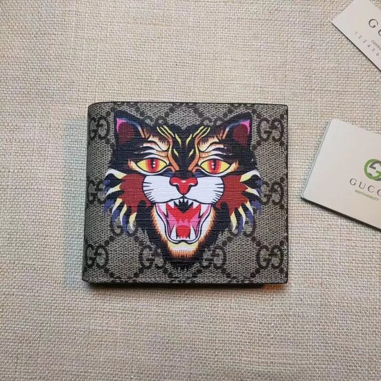 Gucci cat print GG Supreme wallet 451268
