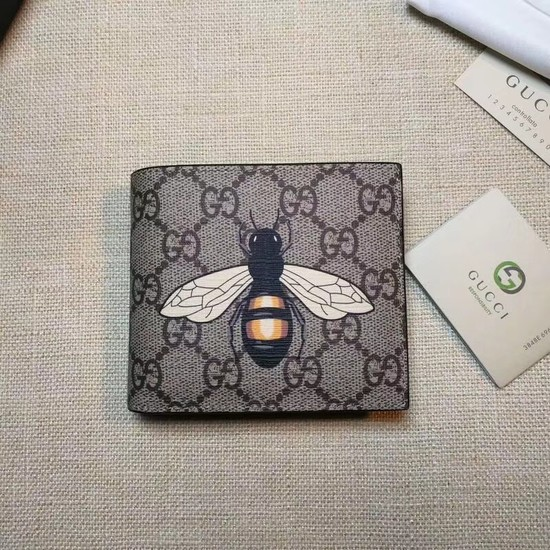 Gucci Bee print GG Supreme wallet 451268