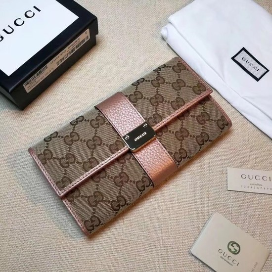 Gucci Calf leather Wallet 233028 pink