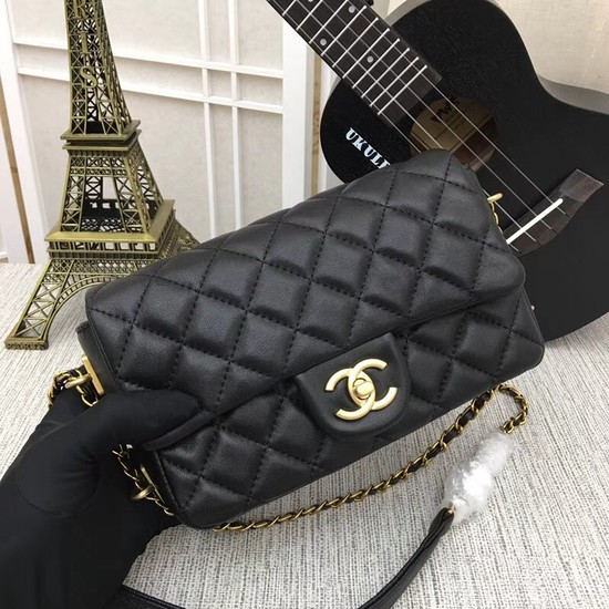 Chanel mini Sheepskin Leather cross-body bag 5698 black