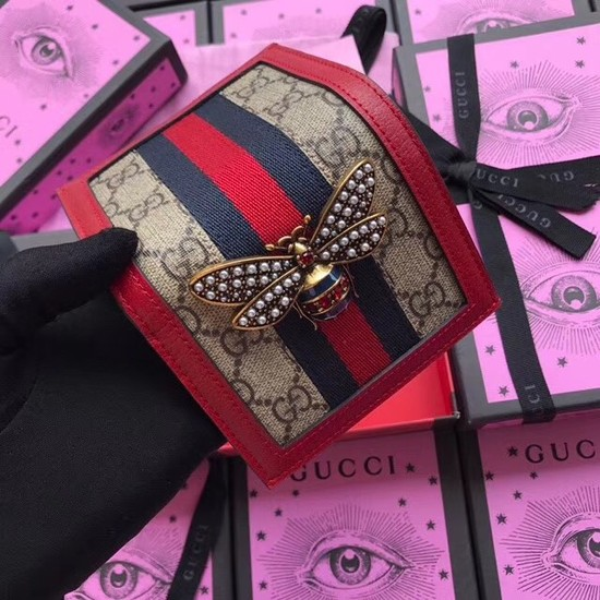 Gucci Queen Margaret GG card case 476072 red