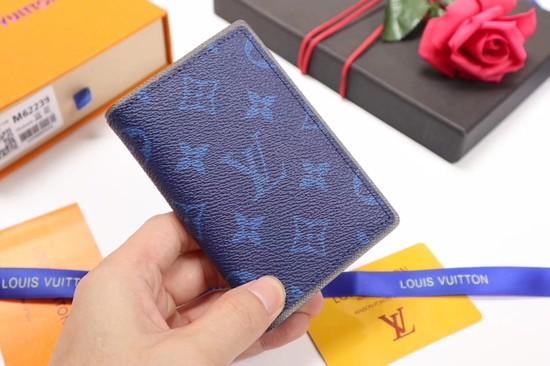 Louis Vuitton Monogram Ink Card Purse 62219 blue
