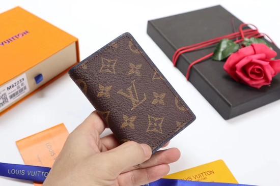 Louis Vuitton Monogram Ink Card Purse 62219 brown